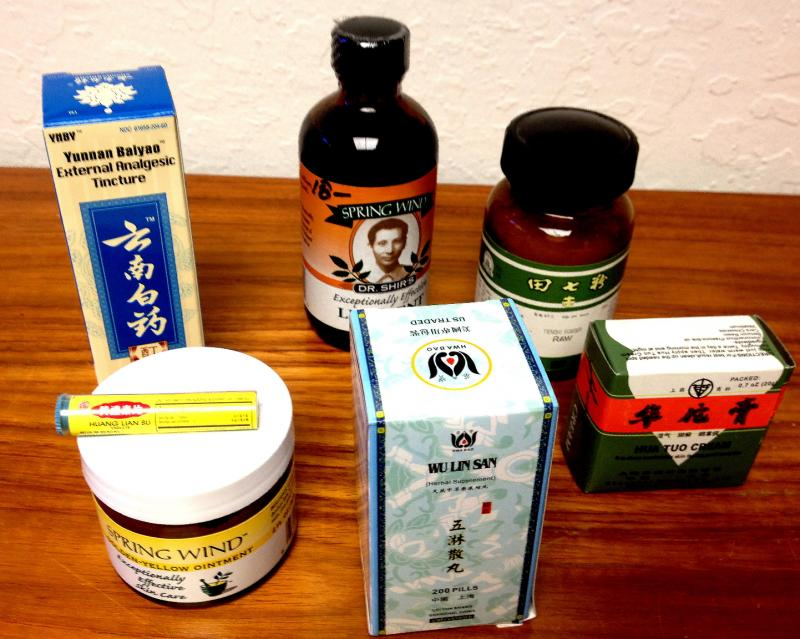 Chinese herbs come in patent medicines, as well as the dried form.